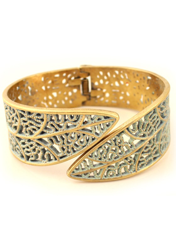 bangle bracelets fashion hollow-out golden bangle bracelet FWQOPAN