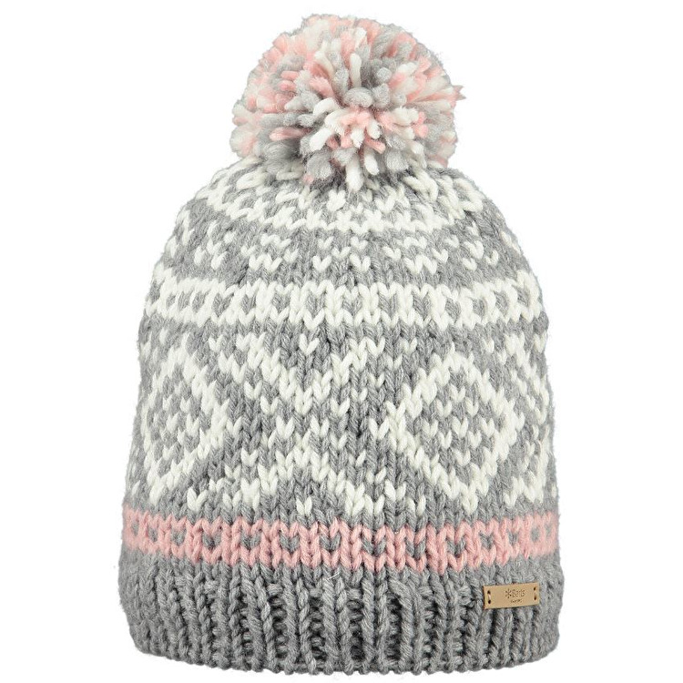 barts hats barts log cabin beanie - heather grey grqasqt