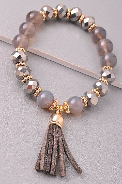 beaded bracelets beaded bracelet with a tassel stretches - one size fits most - crafting  intent LOMRYAI