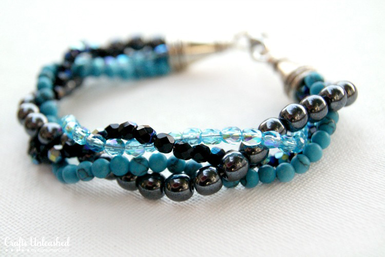 beaded bracelets make a bracelet with twisted bead strands ZDJXDKQ