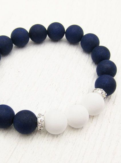 beaded bracelets nautical with a sophisticated twist. nautical jade bead bracelet with  sterling silver via @lovelyclusters IQIVULG