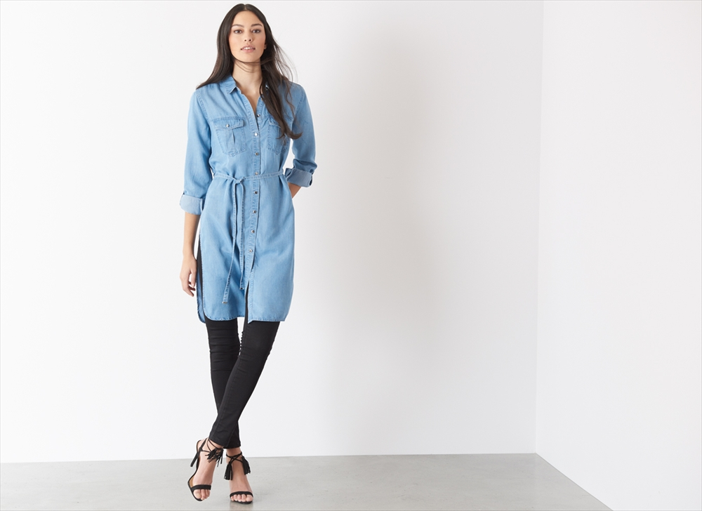 Distinguishing features of denim tunic