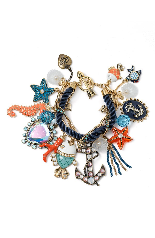 betsey johnsonu0027s under the sea collection, nautical jewelry nhfdkqy