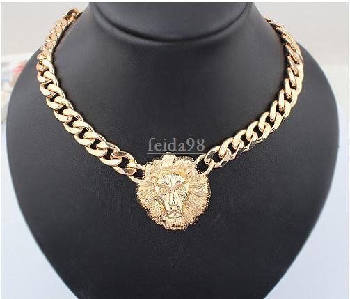 big gold necklace for women animal head necklaces fashion gold chunky chain  gold women dyurnaf