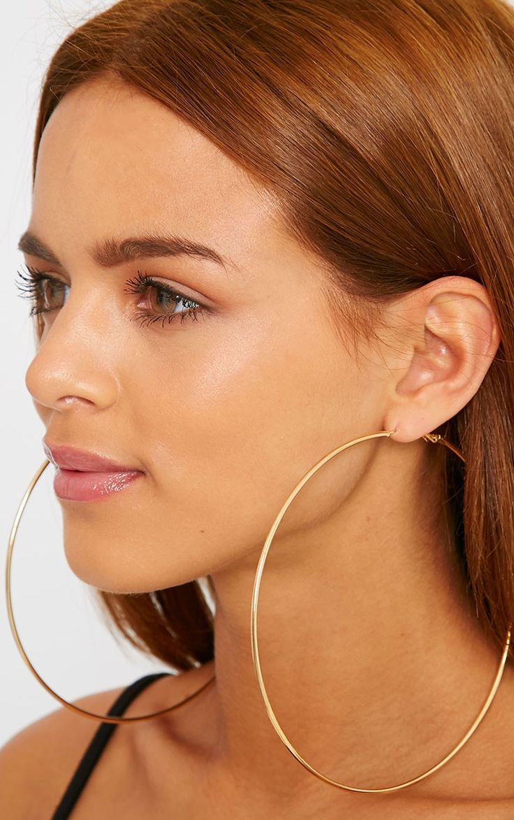 Hoop Earrings Alicia Gold Large Thumbnail 2 Fmungjk