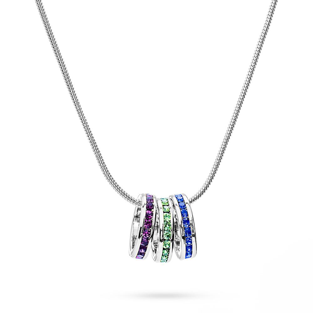 birthstone necklace custom stackable birthstone eternity charm necklace NHHPZEZ