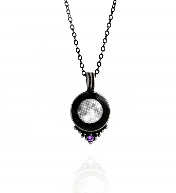 birthstone necklace moon phase YJTUIAT