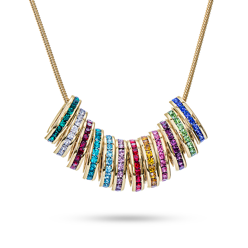 birthstone necklace personalized stackable birthstone charm necklace. hover to zoom QOSGJDN