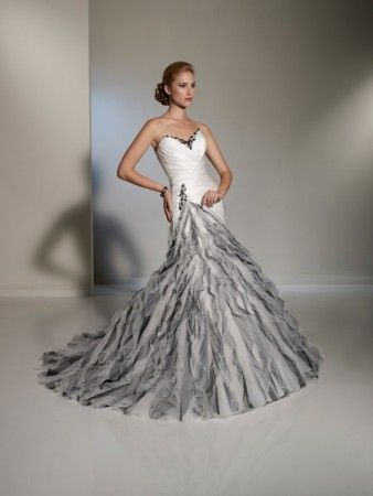 black and silver wedding dresses | photo gallery - photo of silver u0026 white wedding gmdalkp