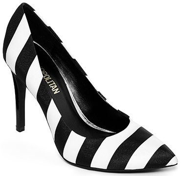 black and white pumps cosmopolitan u201celisau201d high heel ... gyhyzsy