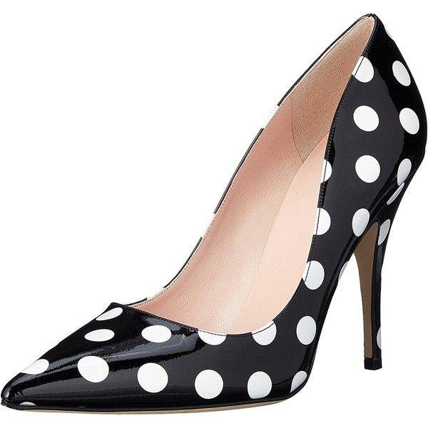 black and white pumps kate spade new york womenu0027s licorice dress pump, black/white/polka dot. jxgpbtg