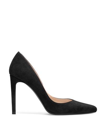 black and white pumps stuart weitzman curvia pump in suede pumps shoe ... tzodywm