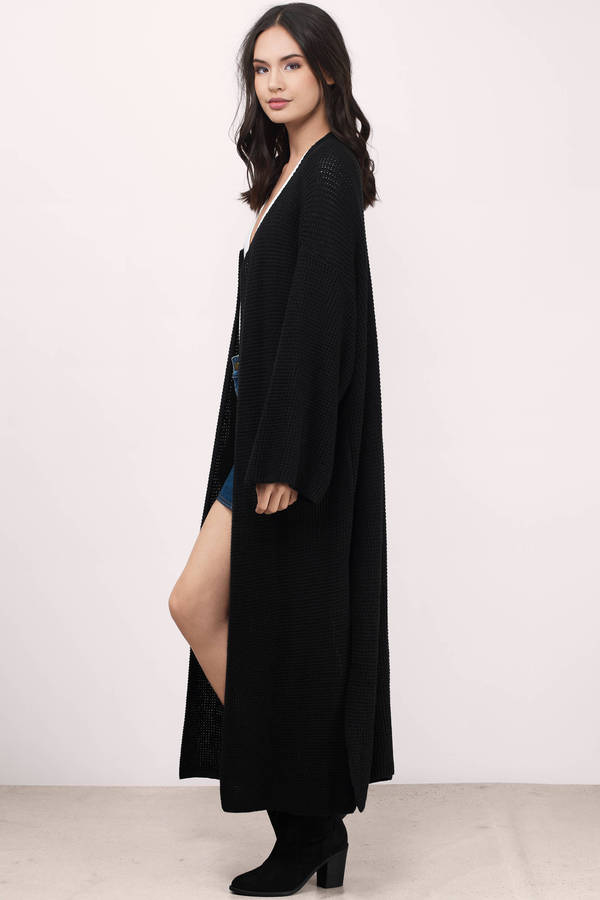 black cardigan ... keep me warm black jersey knitted cardigan ... nnzifog