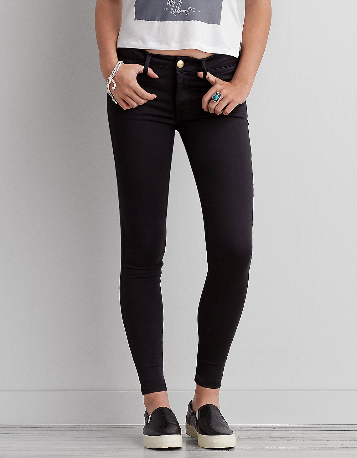 black jeggings aeo sateen x jegging, jet onyx | american eagle outfitters iroleqd