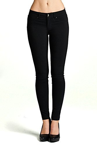 black jeggings emmalise womenu0027s basic jean look jeggings tights spandex skinny leggings  bottoms - junior sizing xkyysrq