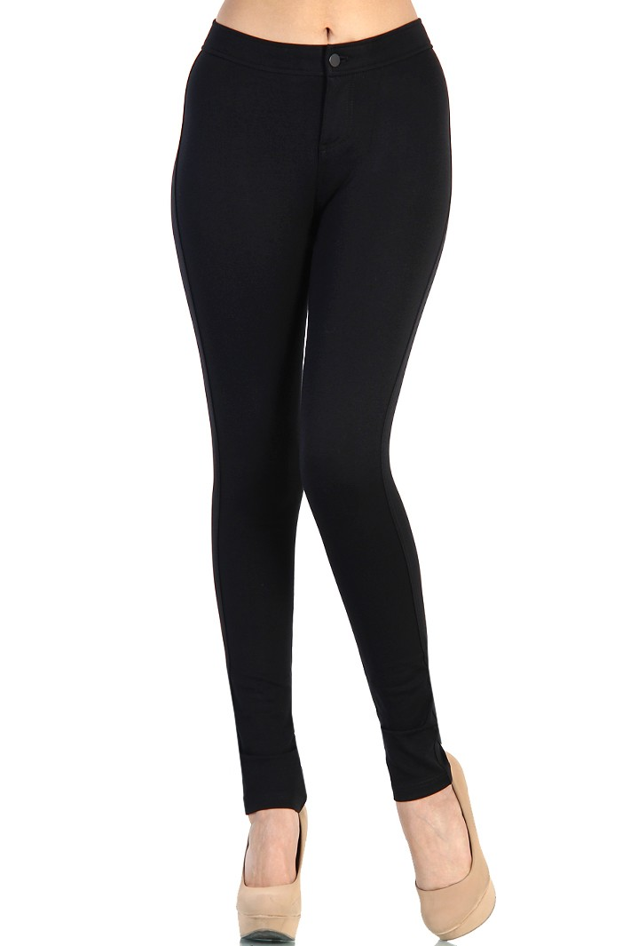 black jeggings high waist cotton jeggings - black gfgctcp