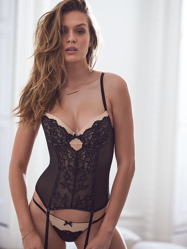 black lingerie dream angels lace bustier mtexnov