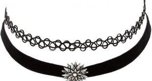 black necklace charlotte russe black tattoo u0026 velvet choker necklaces - 2 pack by... ( GHVUHJY