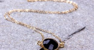 black onyx necklace / onyx necklace / black stone necklace / bridesmaid  necklace / lsbxdoa