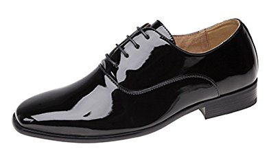 black patent shoes mens evening / uniform / oxford shoes black patent size 6 cklfmgu