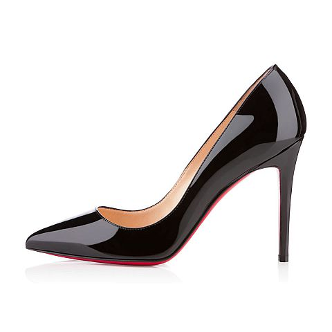 black patent shoes ... women shoes - pigalle patent - christian louboutin ... qmnecin