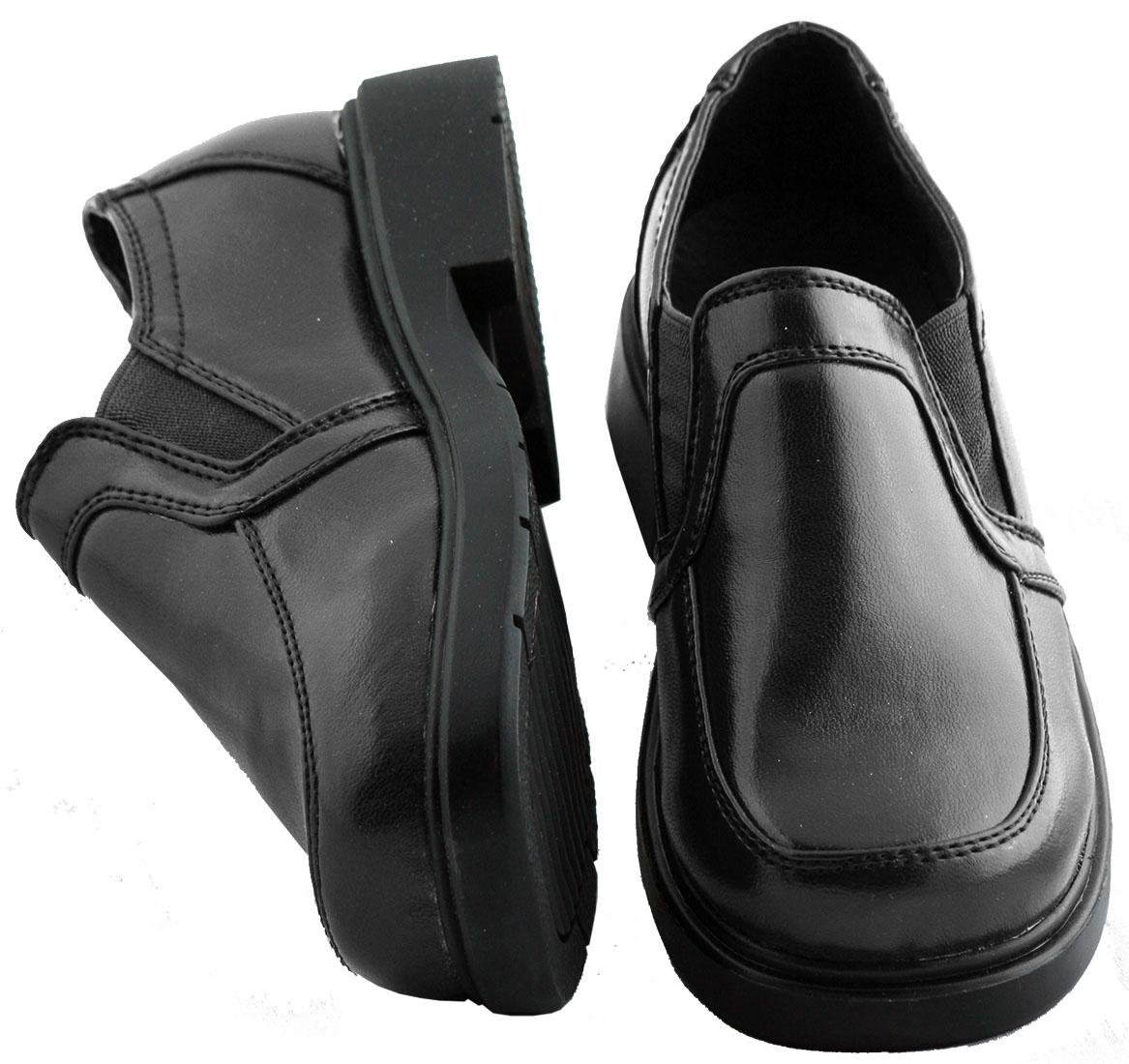 black shoes boys black dress shoe 503 by luna ( slip on ) fhxnyww