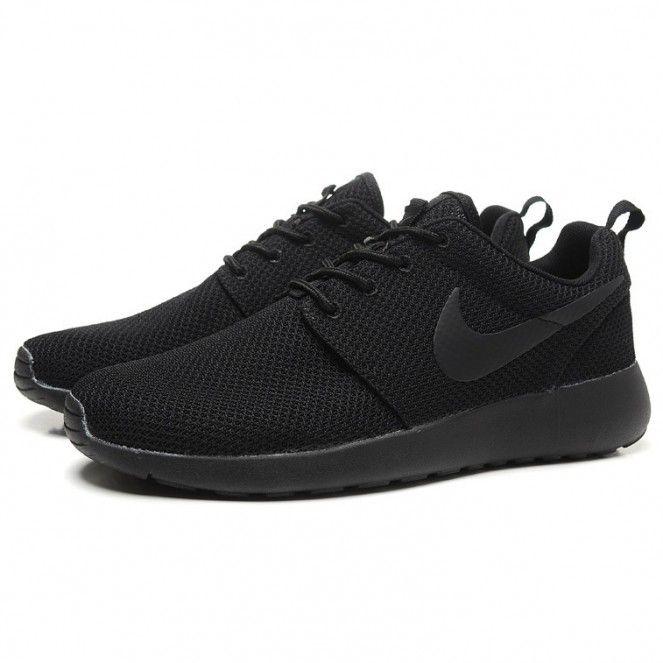 black shoes nike roshe run splatter pack running shoes all black rszmdax