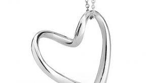 bling jewelry 925 sterling silver floating heart pendant necklace 16in svfkhhf