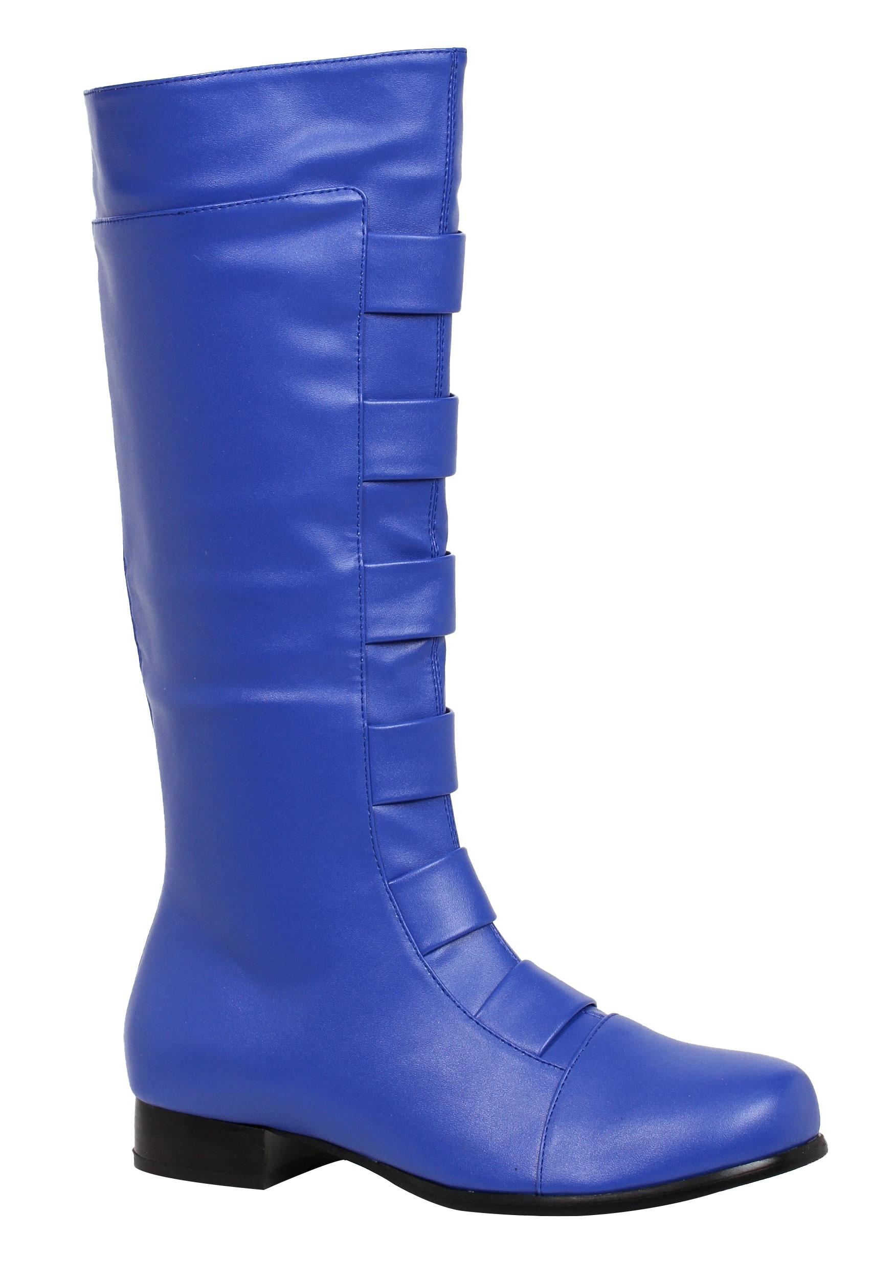blue boots adult blue superhero boots reqozkw