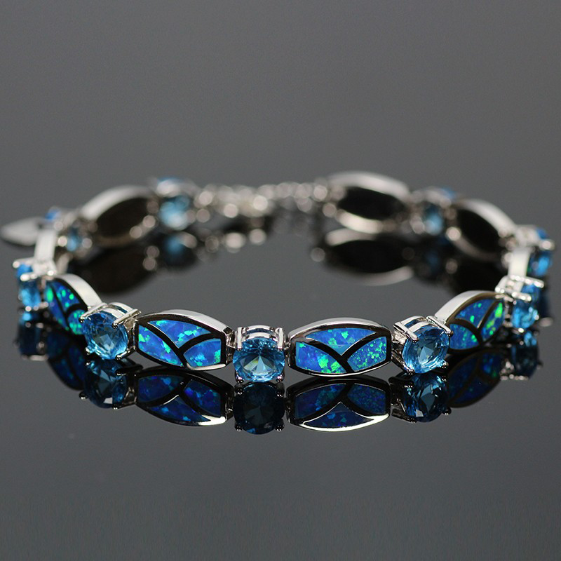 blue fire opal bracelet | magick jewelry fttqlzr
