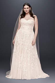 blush wedding dress long a-line vintage wedding dress - melissa sweet zlpkfhl