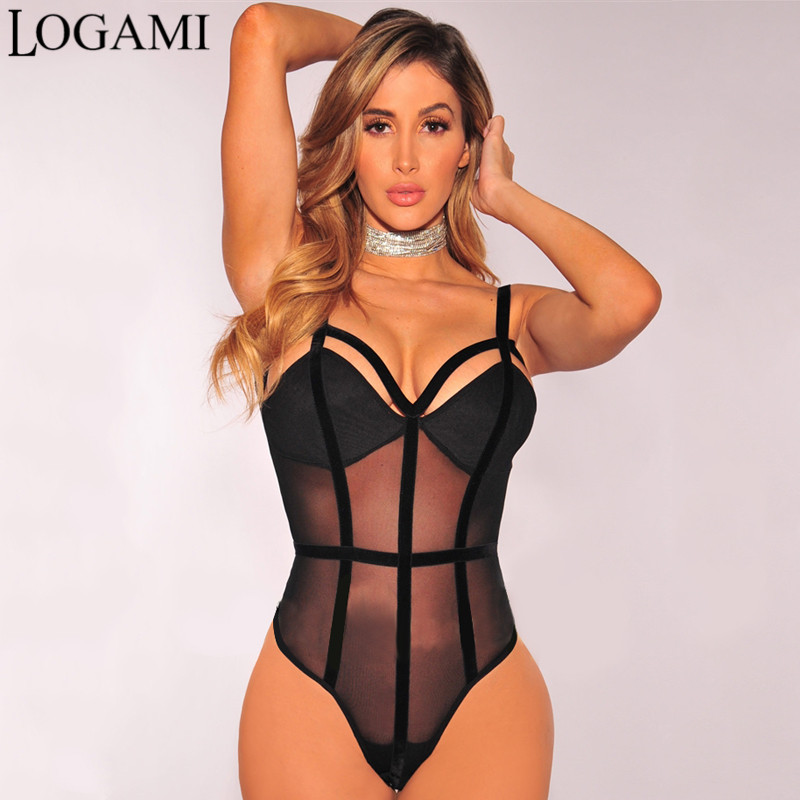 bodysuits for women logami sexy bodysuit women transparent patchwork summer jumpsuit v neck  backless overalls party club upmhyjw