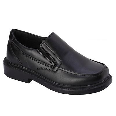 bonafini boys k-106 black slip on formal dress school church shoes ipkdsyp