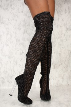 boots with heels sexy black thigh high square chunky heels faux suede ufwzdhu