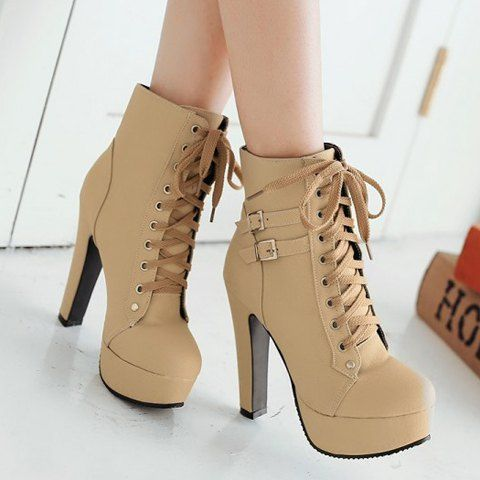boots with heels trendy womenu0027s high heel boots with buckles and solid color design noqictl