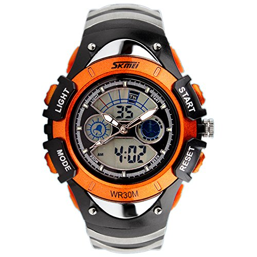 boys watches alps watch kids led digital boys girls waterproof watches orange **  continue to the JRGCNUE