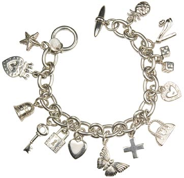 bracelet charms silver charm bracelet - love the butterfly! CPZTHRG