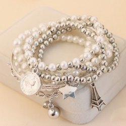bracelets for women wholesale 6 pcs of faux pearl decorated star pendant charm bracelets color  assorted online. jjnggan