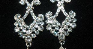 bridal chandelier rhinestone earrings - bridal wedding crystal earrings -  crystal dangle earrings - zbyuvsh