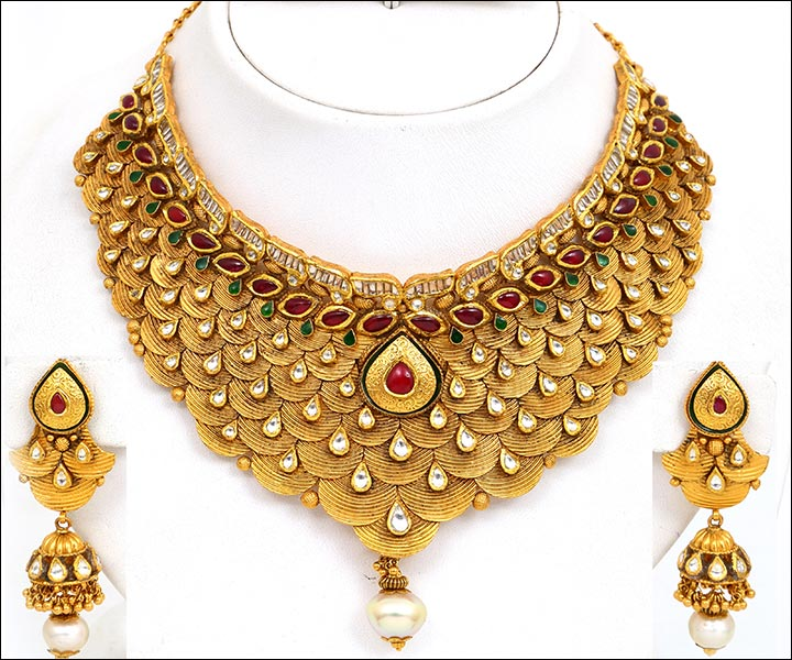 Bridal Gold Jewellery Sets Antique Look Set Jjsecyv