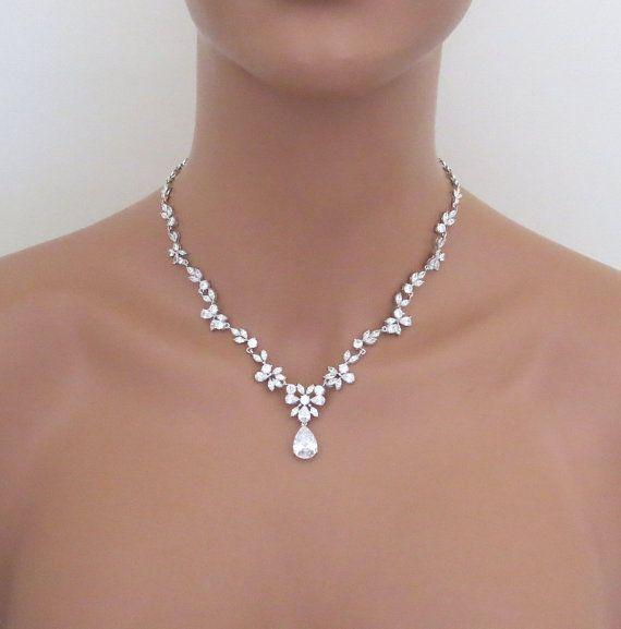 bridal jewelry set, wedding necklace set, bridal necklace, wedding jewelry,  crystal necklace earrings, rhinestone cgyedxp