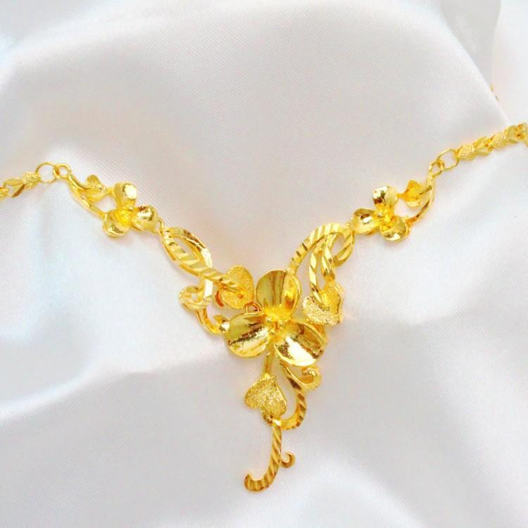bride wedding necklace gold plated jewelry chain with ms. golden wedding  bridal jewelry korean idjtpna