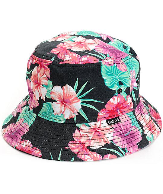 bucket hats empyre tropi gal floral bucket hat wyskvct