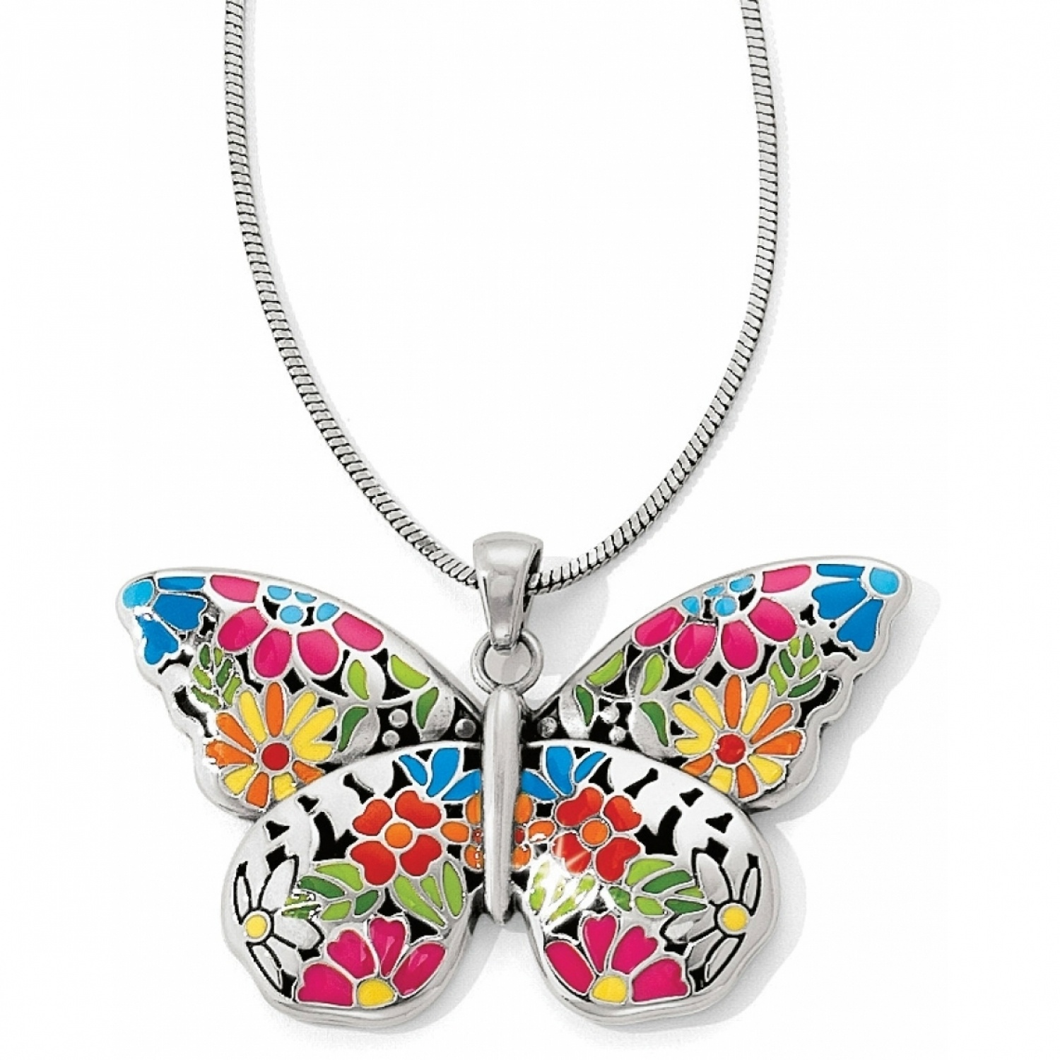 butterfly jewelry suncatcher convertible necklace nkyblph