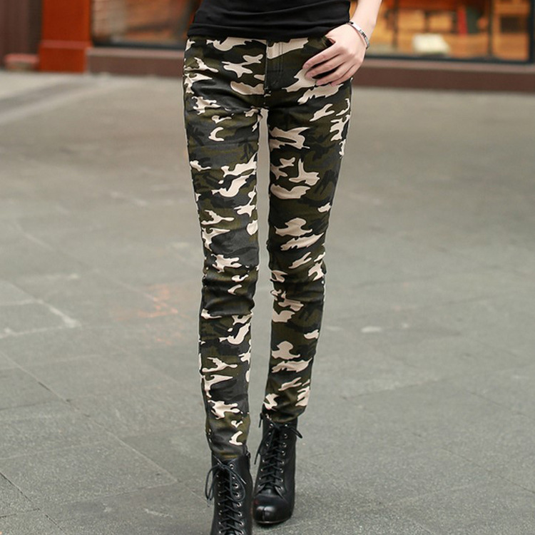 camouflage pants for women camo pants for women summer style fashion military trousers camouflage  skinny stretch slim pencil mlviqxq