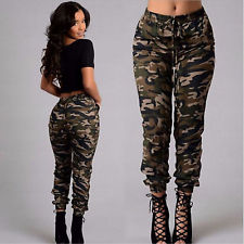 camouflage pants for women women fashion cool casual camouflage cargo pocket pants joggers slacks  trousers rchsbzo