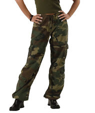 camouflage pants for women womens woodland army military camo vintage paratrooper fatigues cargo pants  new vhuzesk