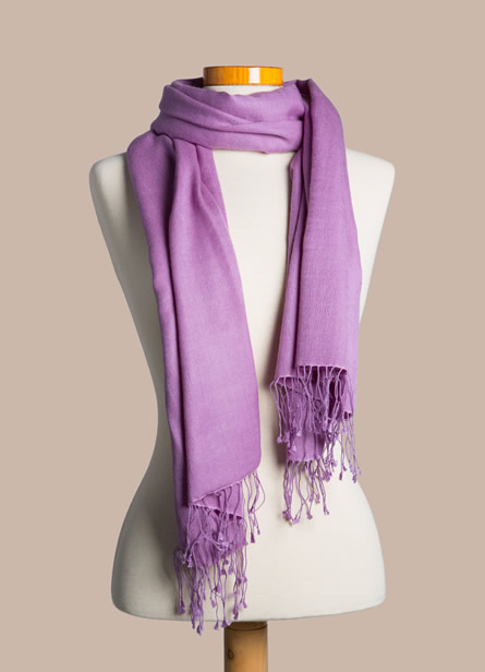 cashmere pashmina 55% cashmere/ 45% silk pashmina - violet orchid mssmcku