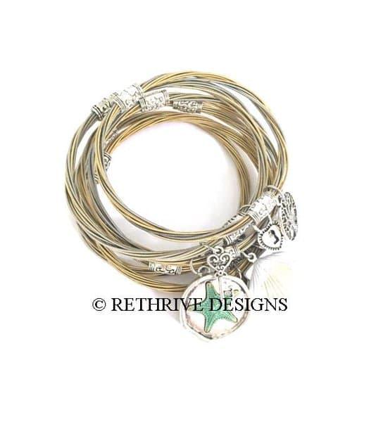 charm bangles | guitar string jewelry vkqihcs