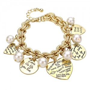 charm bracelets for women love-gold-charm-bracelet u201c irmsvvd